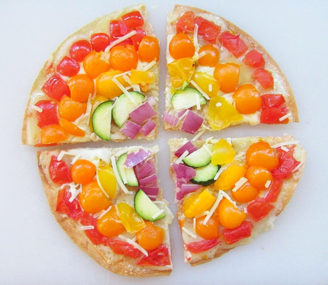Rainbow Pizza (Gluten-Free!) - The Skinny Chick's Cookbook