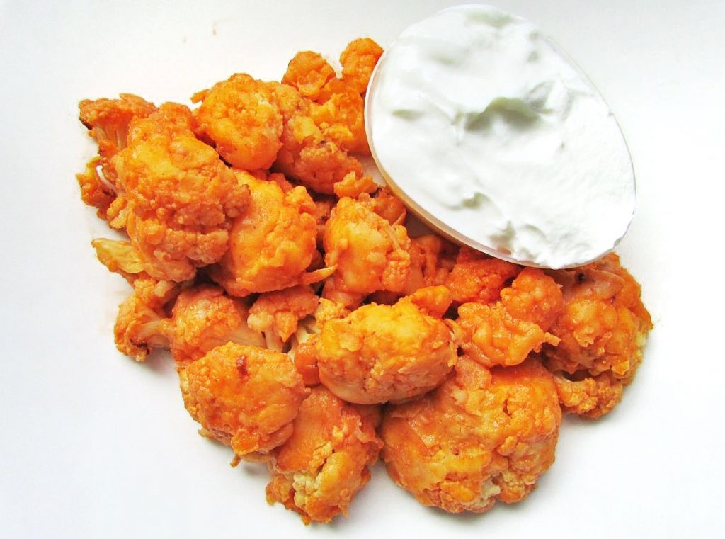 Spicy Buffalo Cauliflower Bites - The Skinny Chick's Cookbook