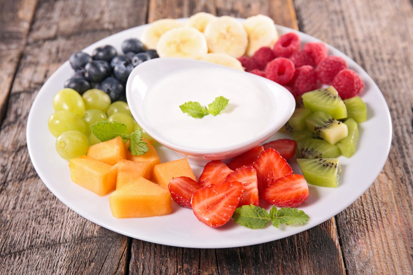 healthy easy cream cheese fruit dip