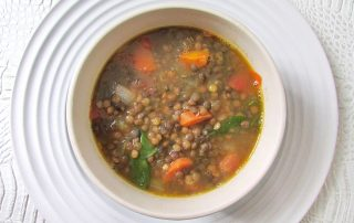 vegan gluten-free lentil vegetable soup